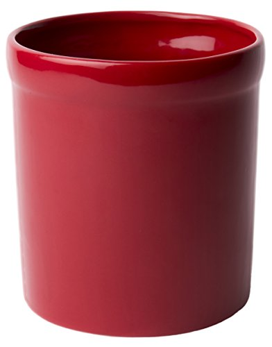 American Mug Pottery Ceramic Utensil Crock Utensil Holder, Made in USA, (Red Pottery Mugs)