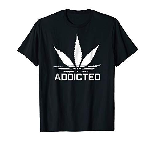 Addicted T-Shirt Weed Cannabis Marijuana Hemp Leaf THC Tee