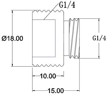 Bykski Male//Female G1//4 Extension Coupler B-EXJ-7.5 White 10mm