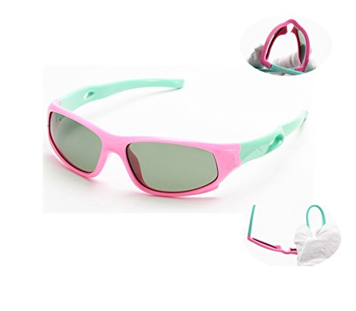 Polarized Sunglasses Kids Sport Tr90 Silcon For Boys Girls Childern Age 3 14 Vivic  Pink Green