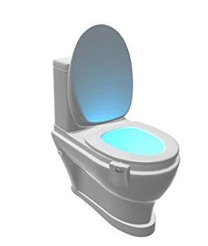 Whobabe LED sensor de movimiento luz de la noche baño colgando 8 colores luz del inodoro