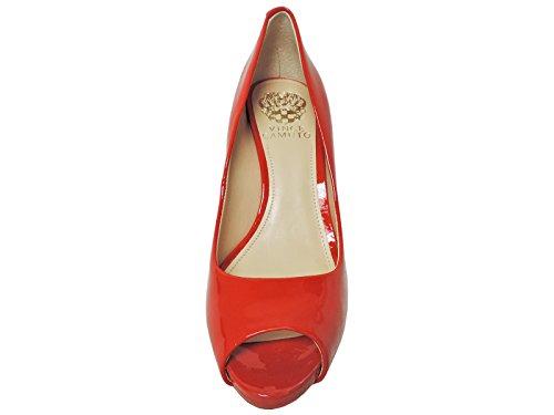 Leather Soft Kiley Pump Camuto Patent Cherry High Vince Ankle Cow Women's xXnT6RqwxB