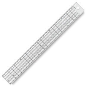 Wescott See-Thru Clear Plastic Grid Ruler, 18 inch/34 Centimeters by Wescott (Image #1)