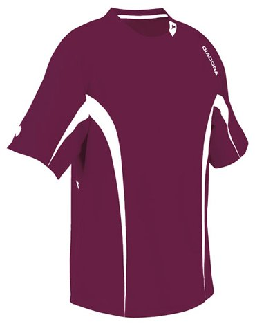 - Diadora Soccer Ermano Jersey Shirt, Maroon, Small