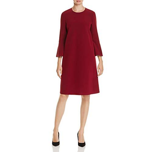 Lafayette 148 New York Womens Sidra Bell Sleeves Professional Mini Dress Red P from Lafayette 148