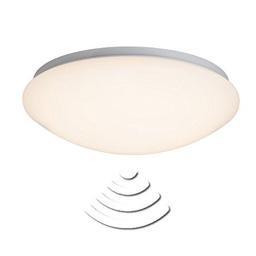 Sensorleuchte, LED Deckenleuchte 33cm IP44 spritzwassergeschützt, 12W, 820 Lumen, 3000K warmweiß