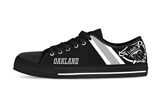 Used, CustomKiks Oakland Raiders Shoes - Low Top Sneakers,Men's for sale  Delivered anywhere in USA