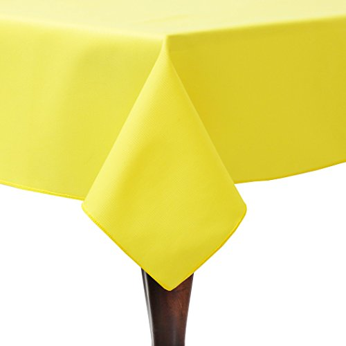 Ultimate Textile (3 Pack) Poly-cotton Twill 72 x 108-Inch Rectangular Tablecloth - for Restaurant and Catering, Hotel or Home Dining use, Lemon Yellow by Ultimate Textile