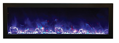 Amantii BI-50-DEEP Electric Fireplace – 50″ wide x 12″ deep