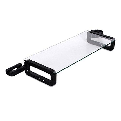 Sunnone UBOARD SMART 3.0 - Tempered Glass Monitor Stand Shelf Built-in 3 x USB 3.0 Hub - Black by U-board (Image #1)