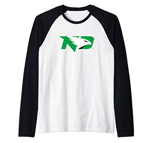 University Of North Dakota UND Fighting Hawks NCAA PPNDU001 Raglan Baseball Tee