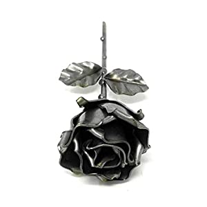 "♥ Eternal Rose Hand-Forged Wrought Iron""Ideal gift fo Valentine's Day, Girlfriend, Mother's Day, Couple, Birthday, Christmas, Wedding Day, Anniversary Gift, Decor, Indoor"" 4"