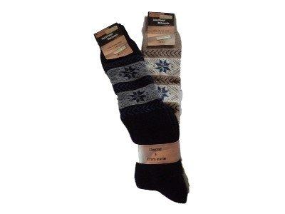 RS 2 pares de calcetines térmicos Diseño Noruego mezcla de lana: Amazon.es: Ropa y accesorios