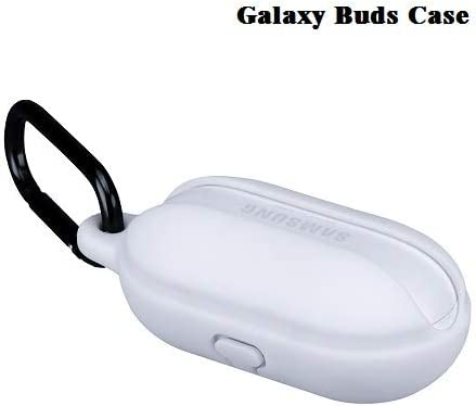 Fironst Galaxy Buds Case with Carabiner Protective Silicone Cover Shock Resistant Against Losing Compatible with Fast Wireless Charging for Samsung ...