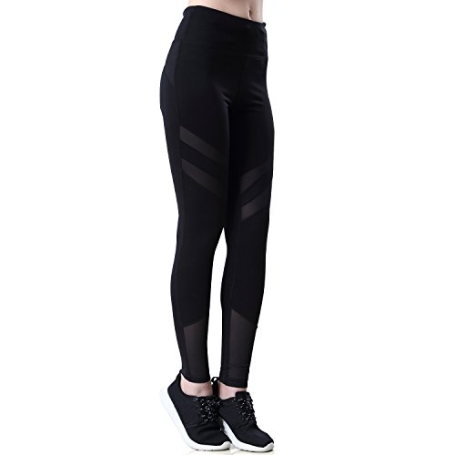 Anivivo Womens Yoga Running Pants Breathable Yoga Leggings Tights Fitness Sports Athletic Trousers