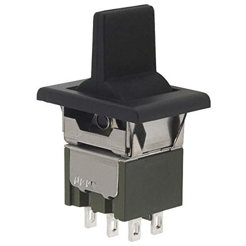SWITCH ROCKER DPDT 6A 125V (Pack of 5) (M2023TJW01-GA-1A) by NKK Switches