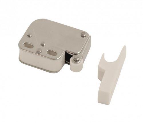 Cierre para armario (pulsació n, tamañ o mini, 2 unidades, con resorte), color blanco tamaño mini onestopdiy.com