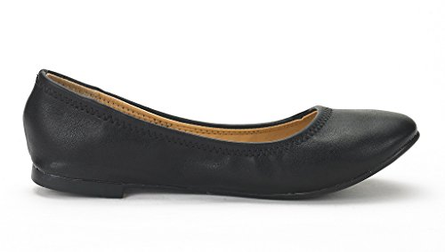 Walking Black Sole Shoes Womens PAIRS Flats DREAM Ballerina Happy X8wPEB