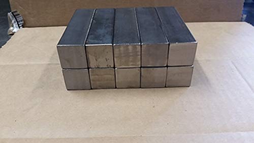 (New 10 pcs Blacksmith Hardy 1 inch by 4 inch Square Stock Steel- forge-anvil highly performance, durable (Only 5 sets left) US -fast)