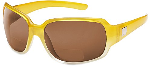 Suncloud Cookie Polarized Bi-Focal Reading Sunglasses in Yellow Fade with Brown Lens - Cookies Sunglasses