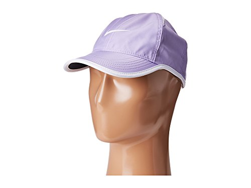 NIKE Men`s NikeCourt AeroBill Featherlight Adjustable Dri-Fit Tennis Hat (One Size, Hydrangeas (679421-536)/White/White) (Hydrangea Hat)