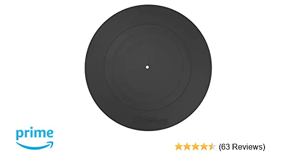 Electrohome Turntable Platter Mat (Black Rubber) - Durable Silicone Design for Vinyl Record Players (PENTRP)