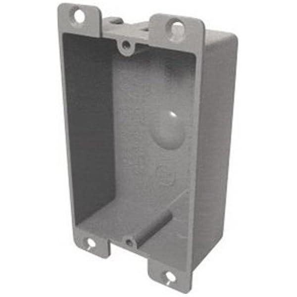 Ez Box Shallow Flanged Pvc Electrical Box 8 0 Cu In 2 3 8 X3 1 2 X1 1 4 1 Gang Flanged Outdoor Electrical Box Amazon Com