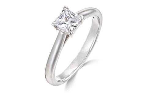 0.31 Ct Princess Diamond - 4