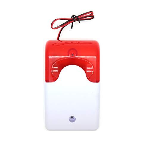 - Yohii Wired Strobe Siren 24V Red Light Sound Flash Buzzer Siren Home Security Alarm