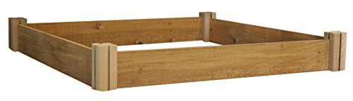 Gronomics MRGB-1L 48-48 48-Inch by 48-Inch by 6-1/2-Inch Modular Raised Garden Bed, Unfinished by Gronomics