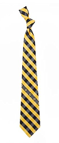 Boston Bruins Check Polyester Neck Tie NHL Hockey Team Logo