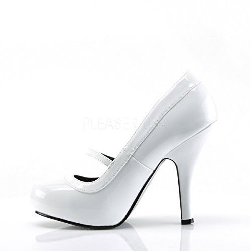 Lack Weiß Pumps Damen Heels Higher tgwx04Iw