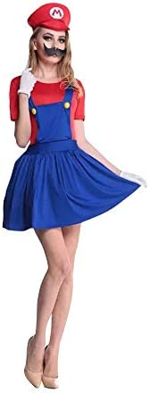 Women's Super Mario Dress Costume