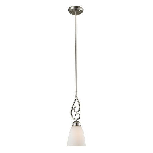 (Cornerstone Lighting 1101PS/20 Chatham 1 Light Pendant, Mini, Brushed Nickel )