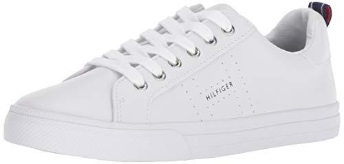 Tommy Hilfiger Women's LELITA Sneaker White//Navy 8.5 M US