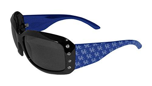 NCAA Kentucky Wildcats Designer Women's Sunglasses,Adult,Blue Swarovski Crystal Logo Sunglasses