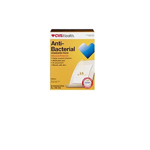 Anti-Bacterial Large Adhesive Pads Advanced Protection 8 Large (Cvs Antibacterial)