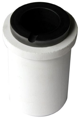 Across International GRC.150 Graphite Crucible with Silica Liner for Metal Casting 150 mL Capacity, 4'' H, 2.5'' L, 2.5,'' W