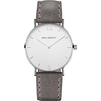 Paul Hewitt Unisex-Armbanduhr Analog Quarz Leder PH-SA-S-St-W-13M