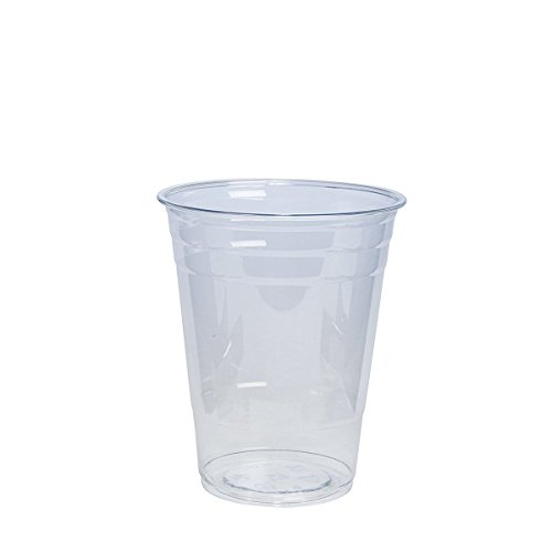 [100 Pack - 16 oz.] Crystal Clear PET Plastic Cups by Comfy Package (Image #3)