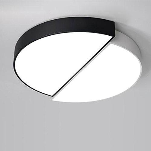 & deckenlampen LED Moderne Acryl Legierung Schwarz Weiß Runde LED Deckenleuchte, Deckenleuchte. LED Deckenleuchte. Living Lamp Lounge Schlafzimmer Innenbeleuchtung (ausgabe   weißes Licht-31  28cm)