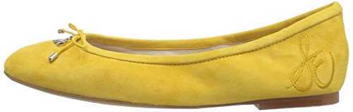 Sam Closed Yellow Suede Felicia Sunset Womens Edelman nvr8ng0