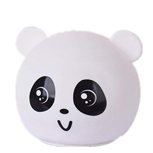 Offbeat Sense Cute Silicone Night Light,Tap Control Single Color and 7-Color Changing Lamps(Panda-One Size)