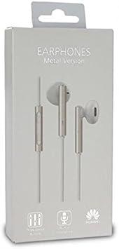 G7 P9,P10 Lite Blister G8 Auriculares Manos Libres Original Huawei AM115 para P7 Mate Honor Plus MLTrade P8 Blanco