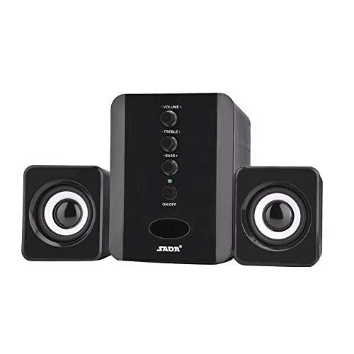 Kafuty Mini USB Speaker System Portable Bass Speaker Subwoofer Music Player for Phone, Laptop, PC, Tablet, Desktop…