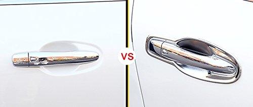 Ensemble de ABS Chrom/é de voiture c/ôt/é Poign/ée de porte Panneau de couvercle de bol