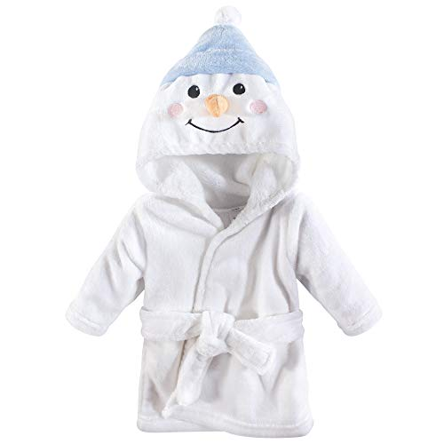 Hudson Baby Unisex Baby Plush Animal Face Robe, Snowman, One Size (Unisex Snowman)