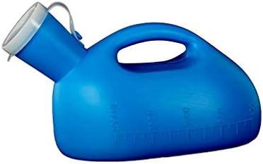 YNGJUEN ホーム 便器 おしっこホルダー おしっこボトル トイレ 青い 白 カバー付き デオドラント オーバーフロー防止 ハンドル付き ために 車 観光 キャンプ (Color : Blue)