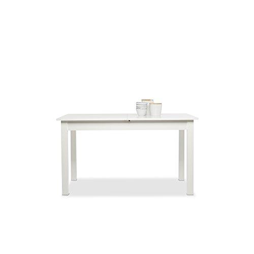 Esstisch Ausziehtisch Küchentisch Tisch Esszimmer Coburg weiß 140x80 cm