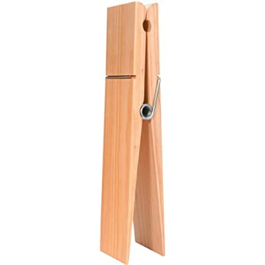 Darice 9192-08 Super Jumbo Wood Clothespin with Tag, 12-Inch